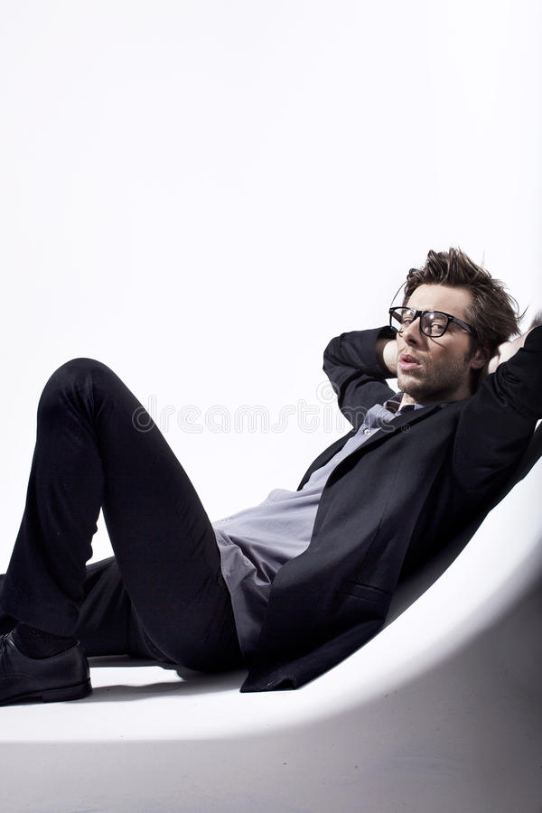 Download Very Attractive Young Man Relaxing In His Place Stock Image - Image: 28864567