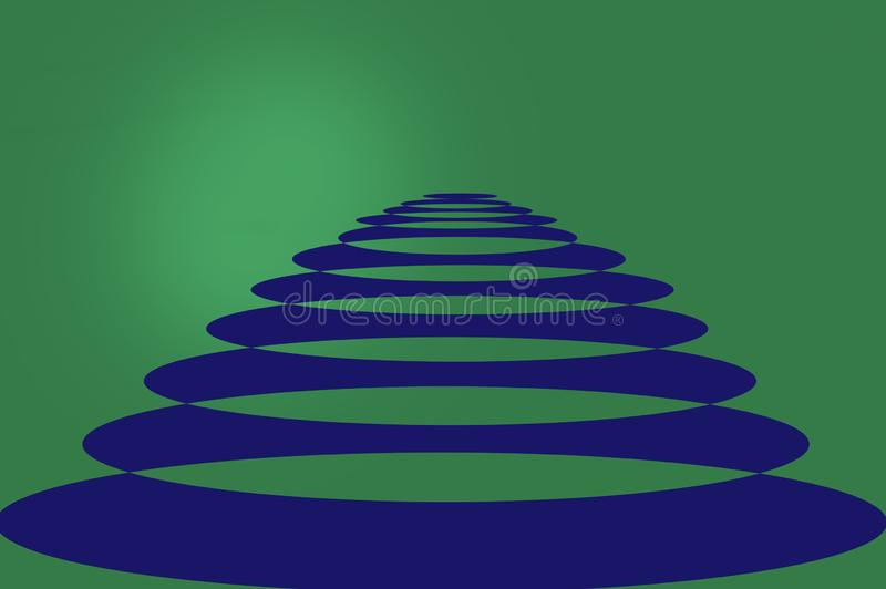 Very beautiful abstract of 3d big circle in column stock illustration