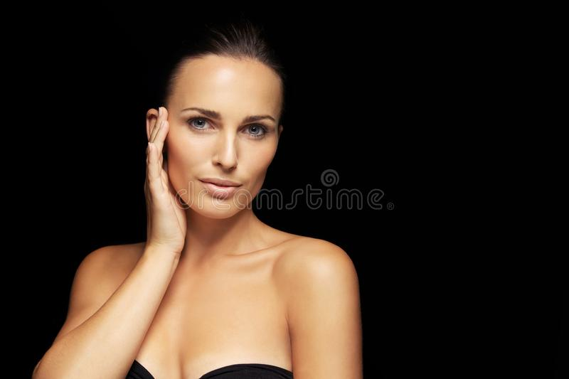 Very beautiful and attractive young brunette royalty free stock photos