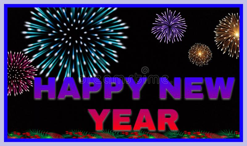 Very beautiful background of happy new year 2020 stock photography