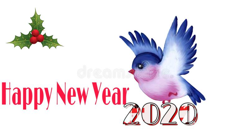 Very beautiful background of happy new year 2020 royalty free stock photos