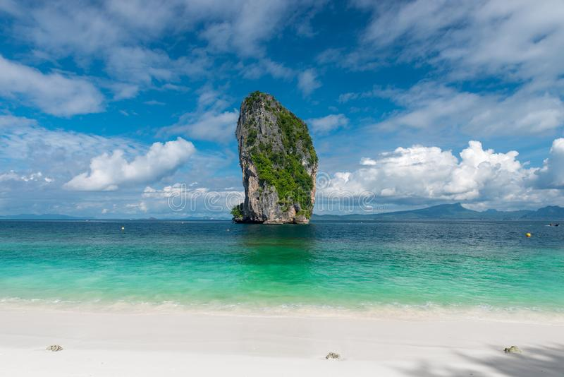A very beautiful clean beach of Thailand - the island of Poda, a royalty free stock photo