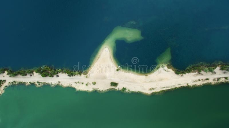 Very beautiful deserted island view from above royalty free stock photos