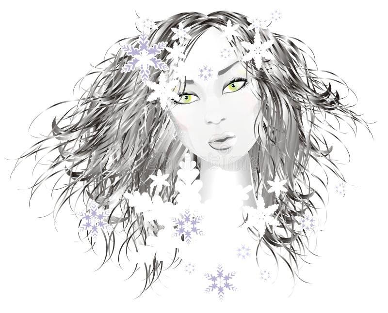 Very beautiful girl vector illustration