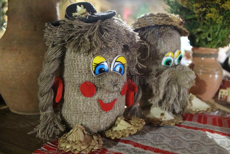 Very beautiful historic belorussian toys. 2018 royalty free stock image