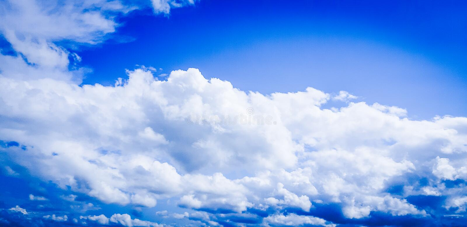 Very  beautiful, magic sky with clouds! stock photography