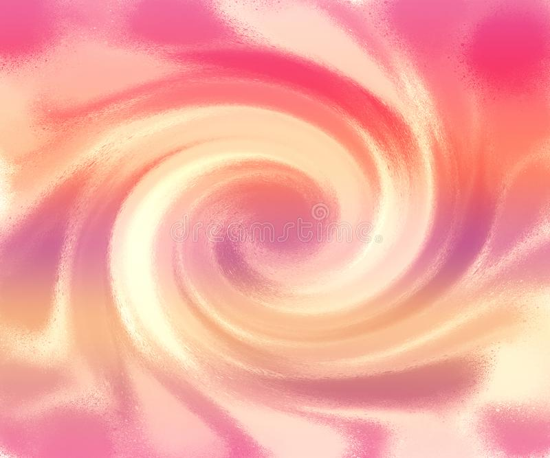 Very beautiful marble paint. Abstract artwork wallpaper. Pink & gold natural art. Liquid paint splash theme with pastel colors. royalty free illustration