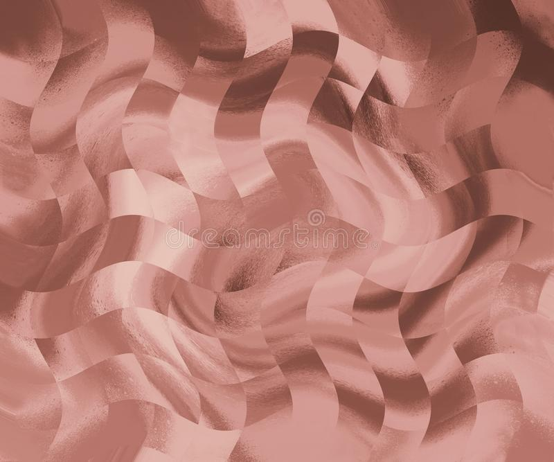 Very beautiful marble paint. Abstract artwork wallpaper. Pink & gold natural art. Liquid paint splash theme with pastel colors. Good for printed trendy poster stock illustration