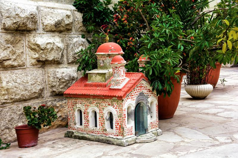 Miniature greek orthodox chapel. Very beautiful miniature Greek Orthodox chapel royalty free stock photography