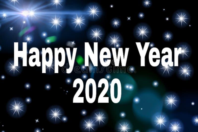 Very beautiful stars background of happy new year 2020 royalty free stock photo