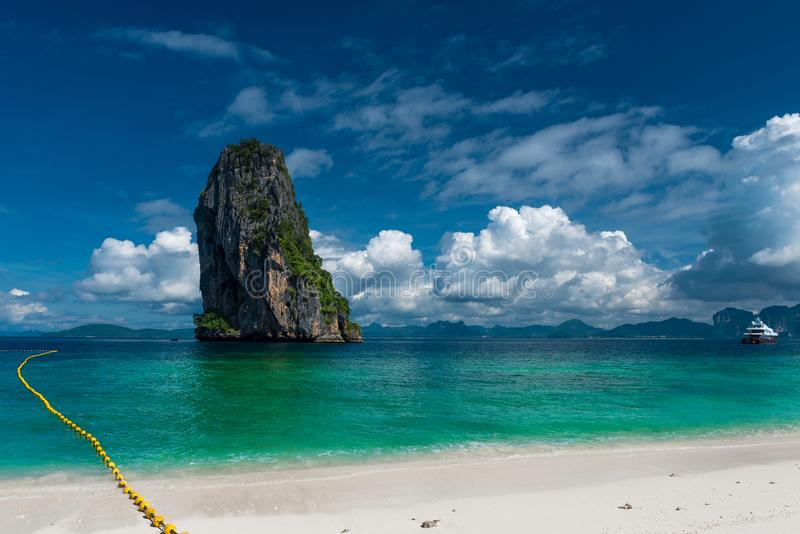 very beautiful view from Poda Island to the Krabi stock photo