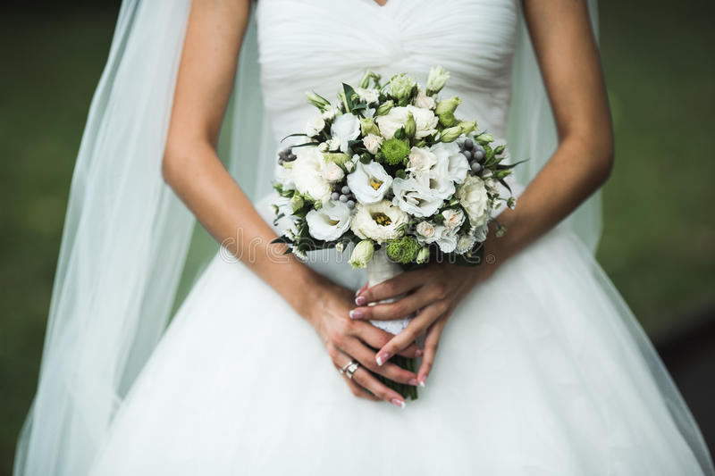 Very beautiful wedding bouquet royalty free stock photo
