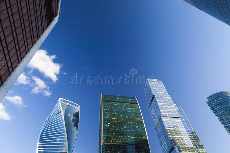 Very big skyscrapers stock photography