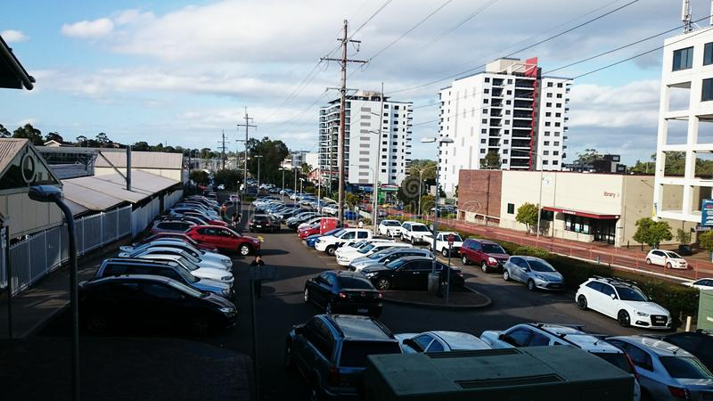 A Very Busy Free Car Park royalty free stock image