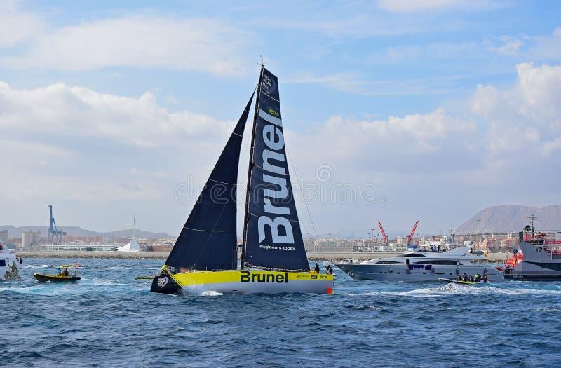 Brunel Volvo Ocean Race Alicante 2017 royalty free stock photography