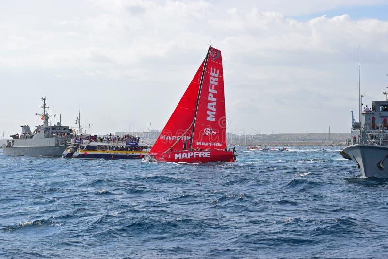 Mapfre Volvo Ocean Race Alicante 2017 royalty free stock photos
