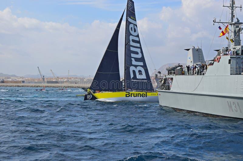 Tight Squeeze Volvo Ocean Race Alicante 2017 stock photos