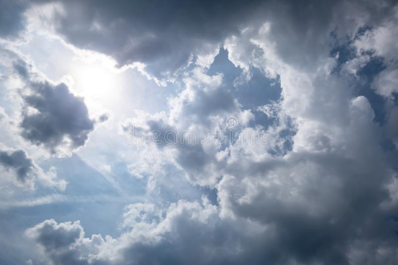 Very cloudy sky weather. An image of a very cloudy sky weather royalty free stock photo