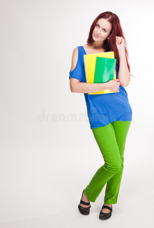 Download Very Colorful Cute Student Girl. Stock Photo - Image: 33398952