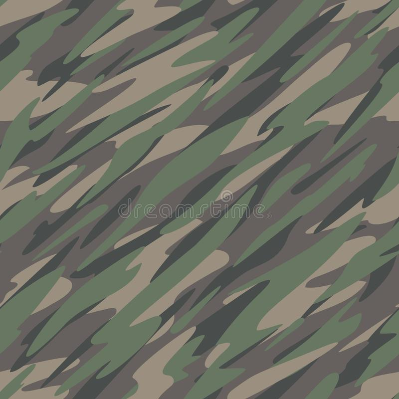 Forest / Jungle Camouflage Abstract Seamless Repeating Pattern Vector Illustration royalty free illustration