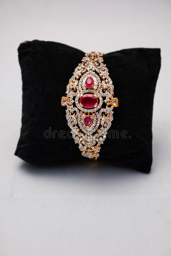 in jewelry red ruby and gold bracelet lyst morais luis wrap enamel
