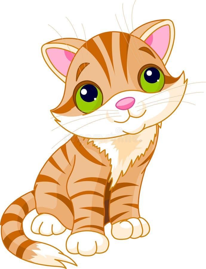 Very Cute kitten stock illustration