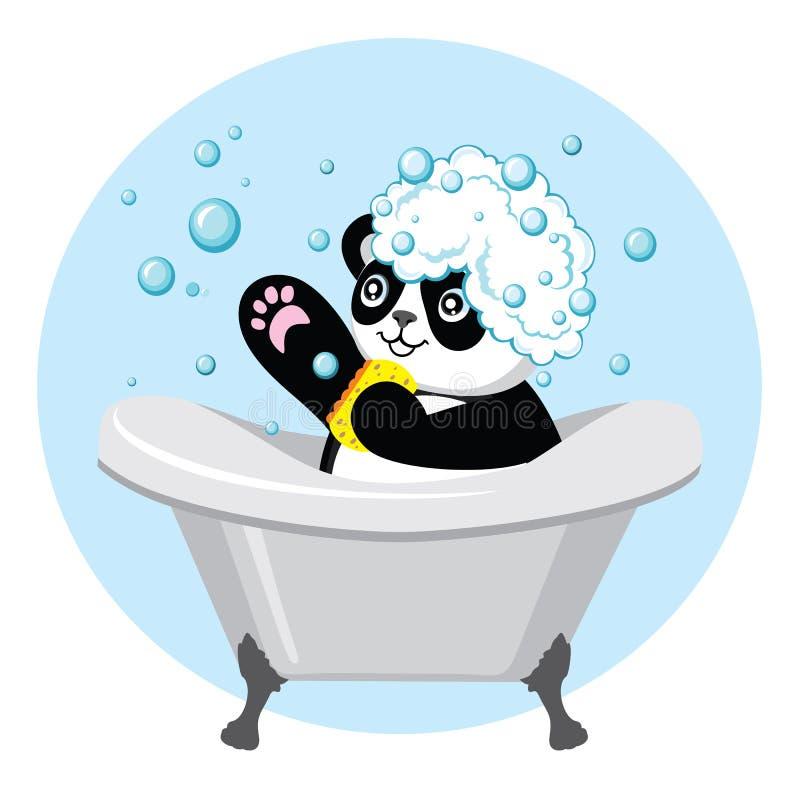 Very cute panda royalty free illustration