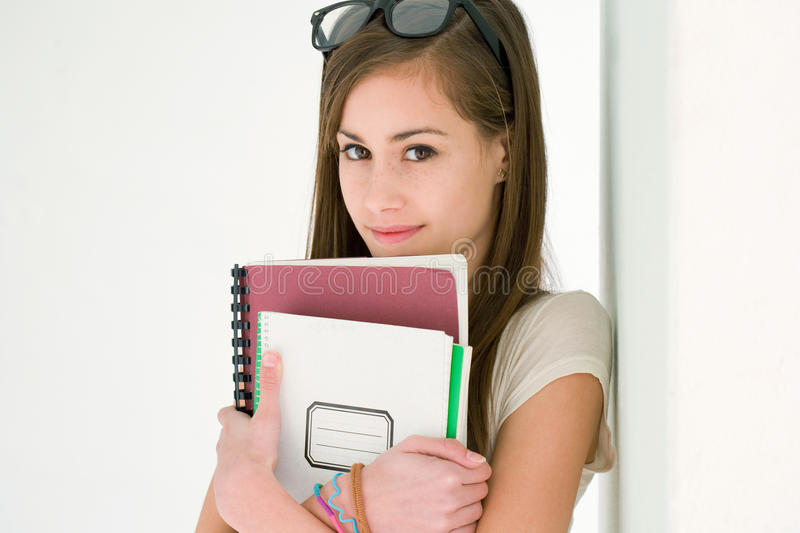 Download Very cute young student. stock photo. Image of cute, copy - 24589912