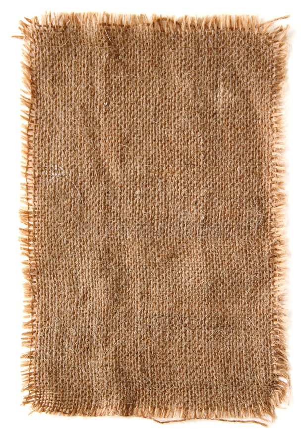 Very detailed burlap canvas with lacerate edge stock photos