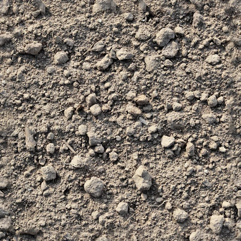 Very detailed seamless texture pattern of acre ground and dirt in high resolution. Found in germany royalty free stock image