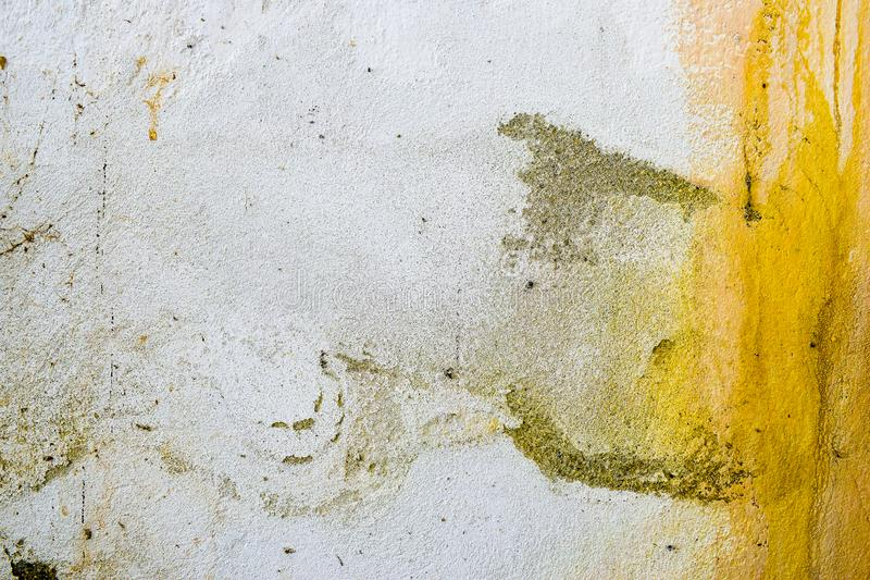 Very dirty and decomposed wall. Abstract painting background texture of decay and decadence. Very dirty and decomposed wall. Abstract background texture of royalty free stock photos