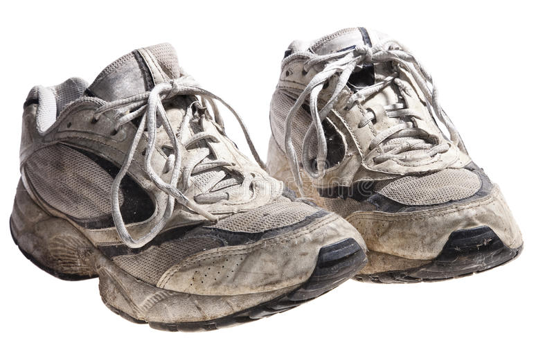 Download Very Dirty And Old Sport Shoes Stock Image - Image: 10864991
