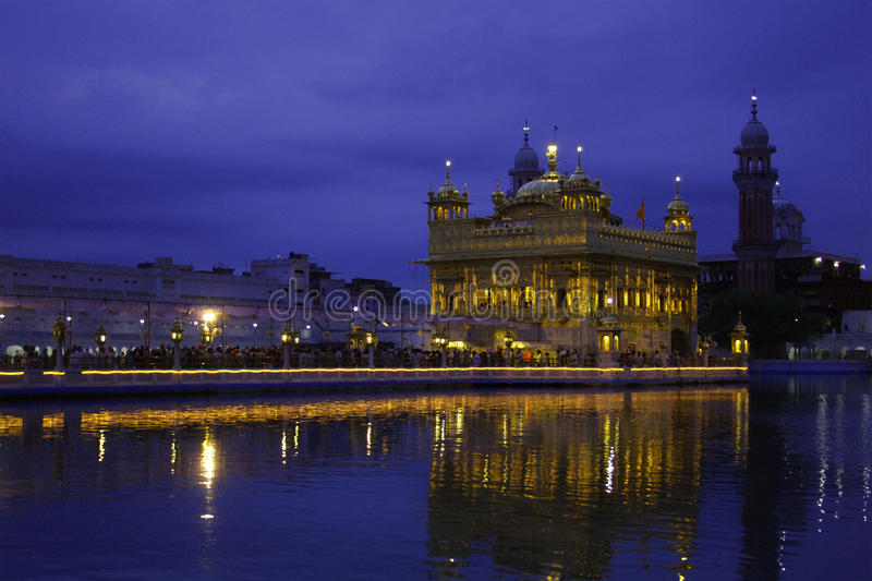Very Early morning shot of Golden Temple stock images