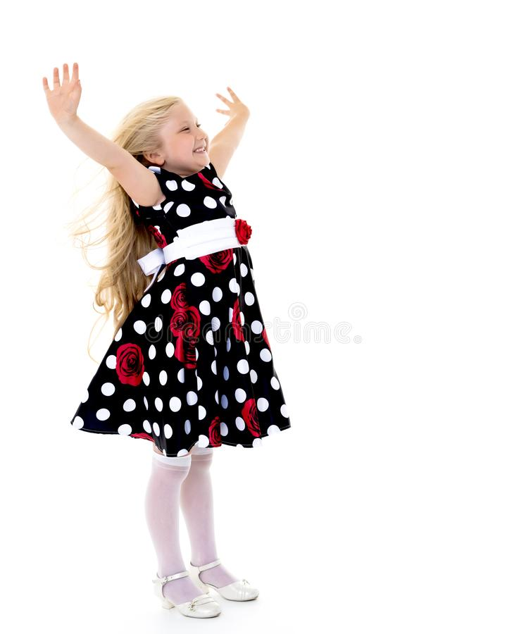 Very emotional little girl. royalty free stock photos
