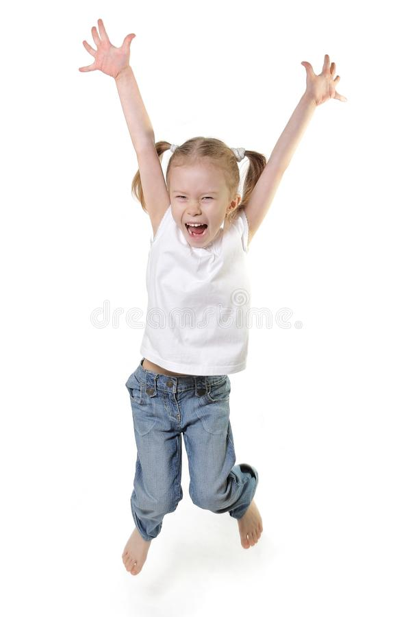 Download Very Excited Playful Little Girl Stock Photo - Image: 13229640