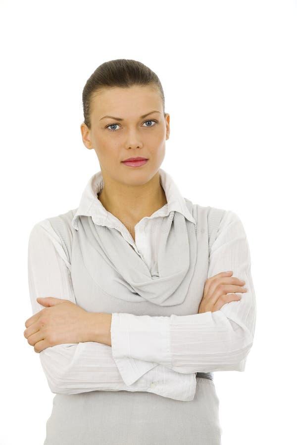 Nice brunette woman stock image