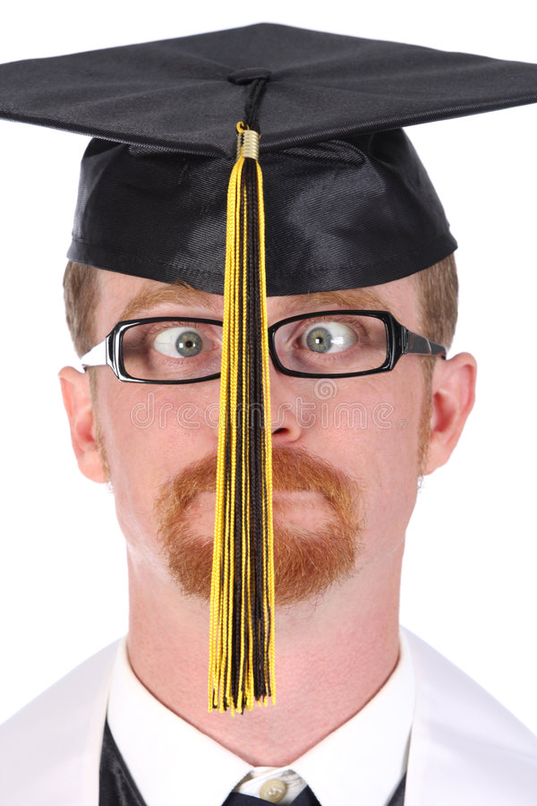 Very funny graduation a young man stock photos