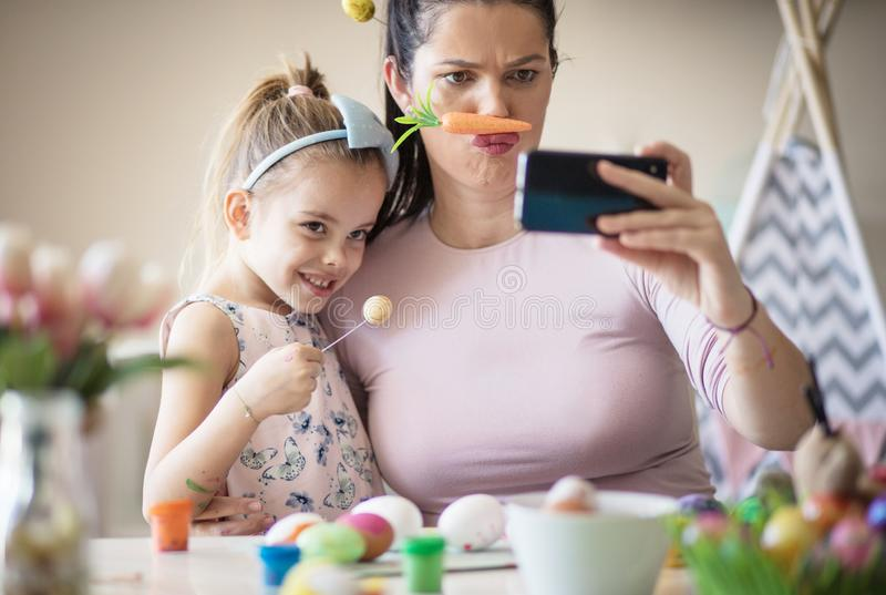 Very funny mom royalty free stock images