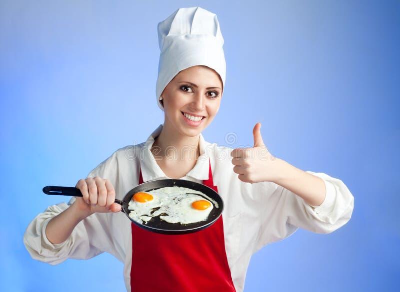 Very good frying egg stock photography