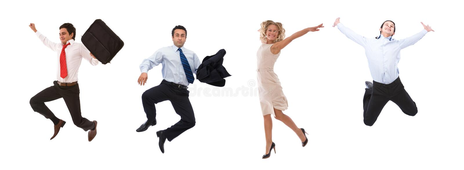 Very happy business people royalty free stock photography