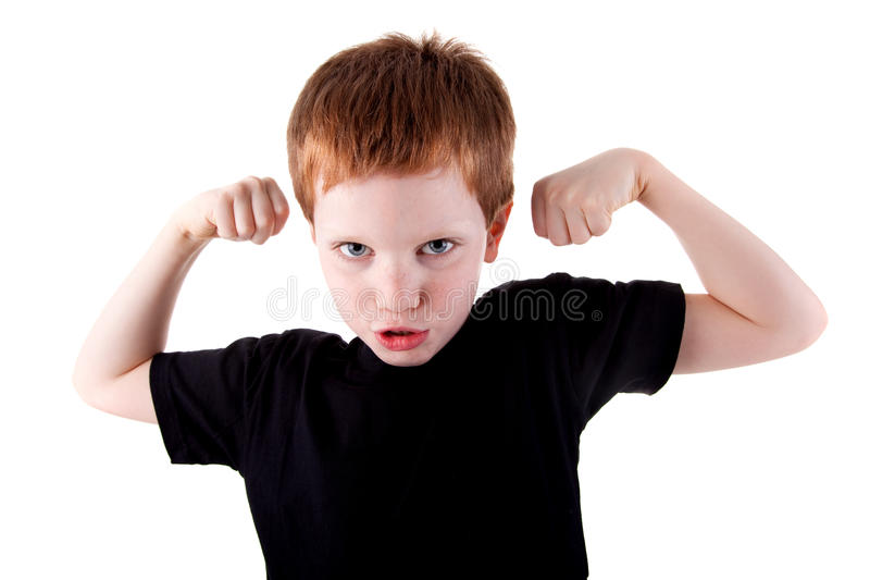 Download A Very Happy Cute Boy With His Arms Raised Stock Photo - Image: 14048014
