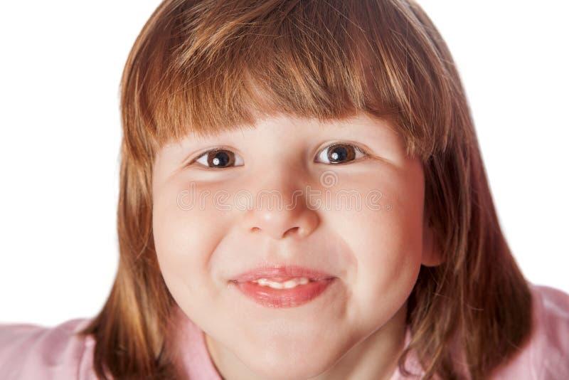 Very happy girl headshot royalty free stock photo