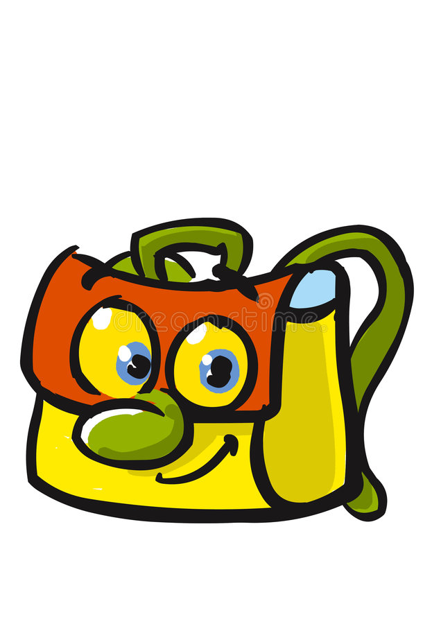 Download Very happy school bag stock illustration. Image of greeting - 8280213