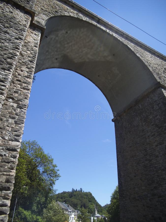 A very high bridge in Luxembourg. royalty free stock photography