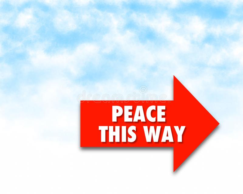 Peace, this way -  super quality business picture. Very high quality vector graphics. On this picture you can see motivational slogan an illustration of good royalty free stock photography