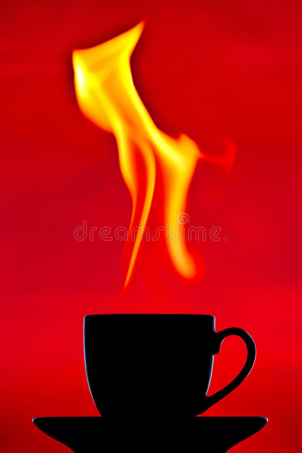 A very hot chocolate royalty free stock photo
