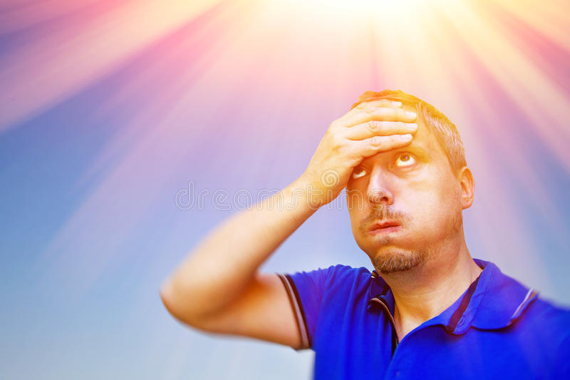 A very hot day royalty free stock photos