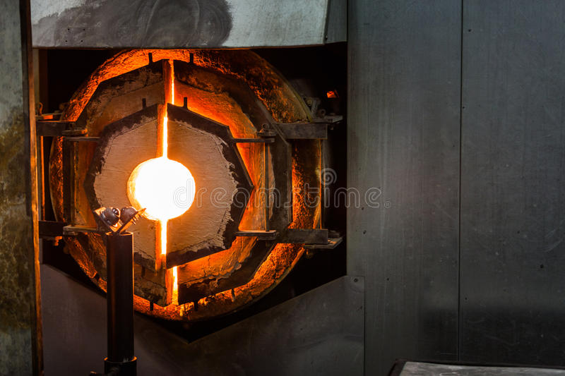 Kiln Furnace for Glass Blowing. Very Hot and ready Kiln Furnace for Glass Blowing royalty free stock photo