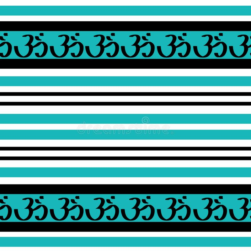 Omh spiritual sign in teal royalty free illustration