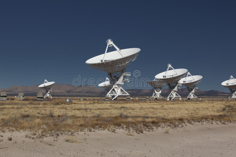 Very Large Array. Landscape of Very Large Array of Radio Telescopes in New Mexico royalty free stock photos